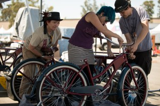 Portland's DOOP (Dog Out Of Place) is a dog sled that turns mushing inside out: Four bicycling humans will pull a sled driven by a robotic dog around the grounds of Maker Faire.