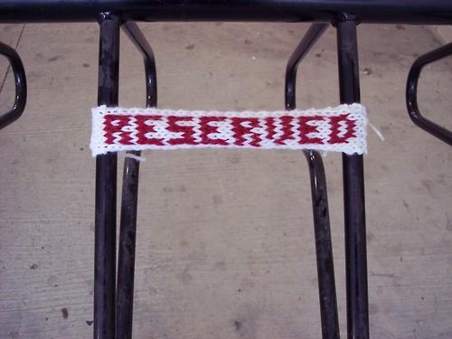 Yarn Bomber Reserves Bike Parking