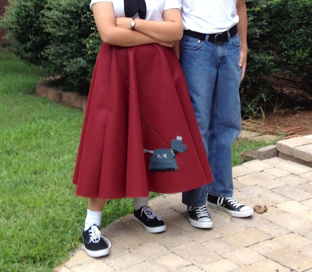 Doctor Who-Inspired K-9 Poodle Skirt