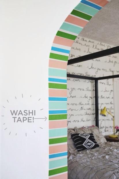 How-To: Washi Tape Doorway Decor