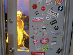 Nice way to end the evening, to see Maker Faire and all our maker friends so proudly represented.
