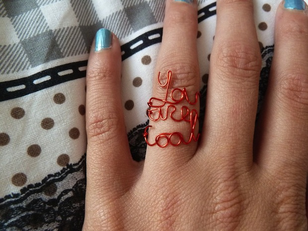 How-To: Wire Word Rings