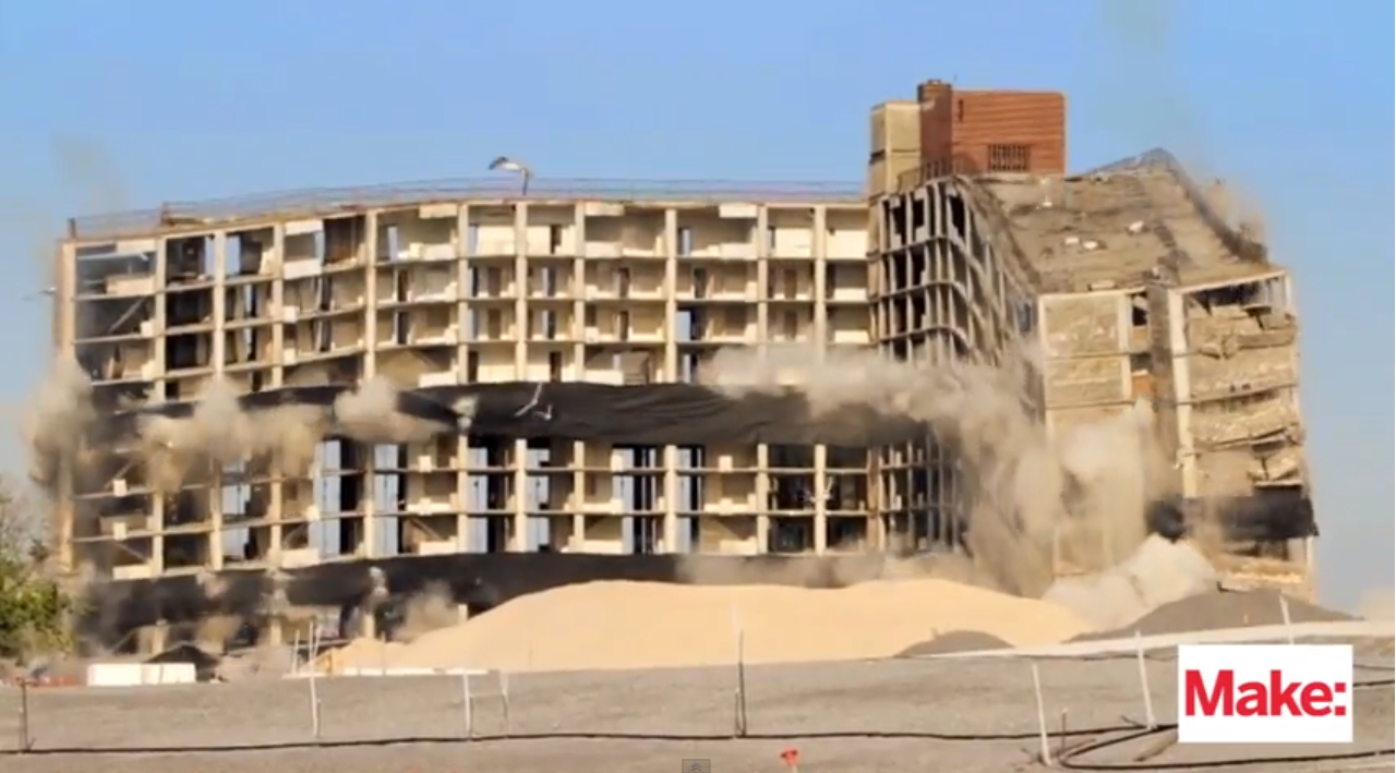 "Watch This Apartment Building on Governors Island Go ""Boom!"" and Implode"