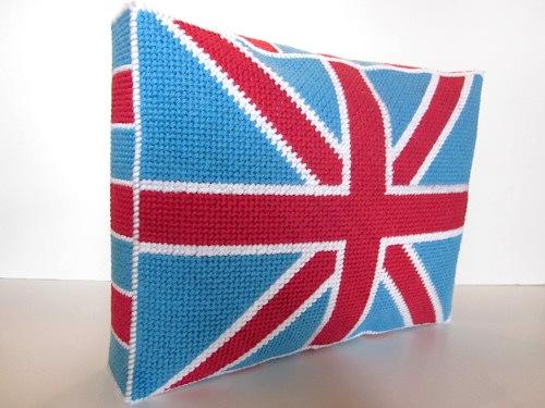 How-To: Needlepoint Union Jack Pillow