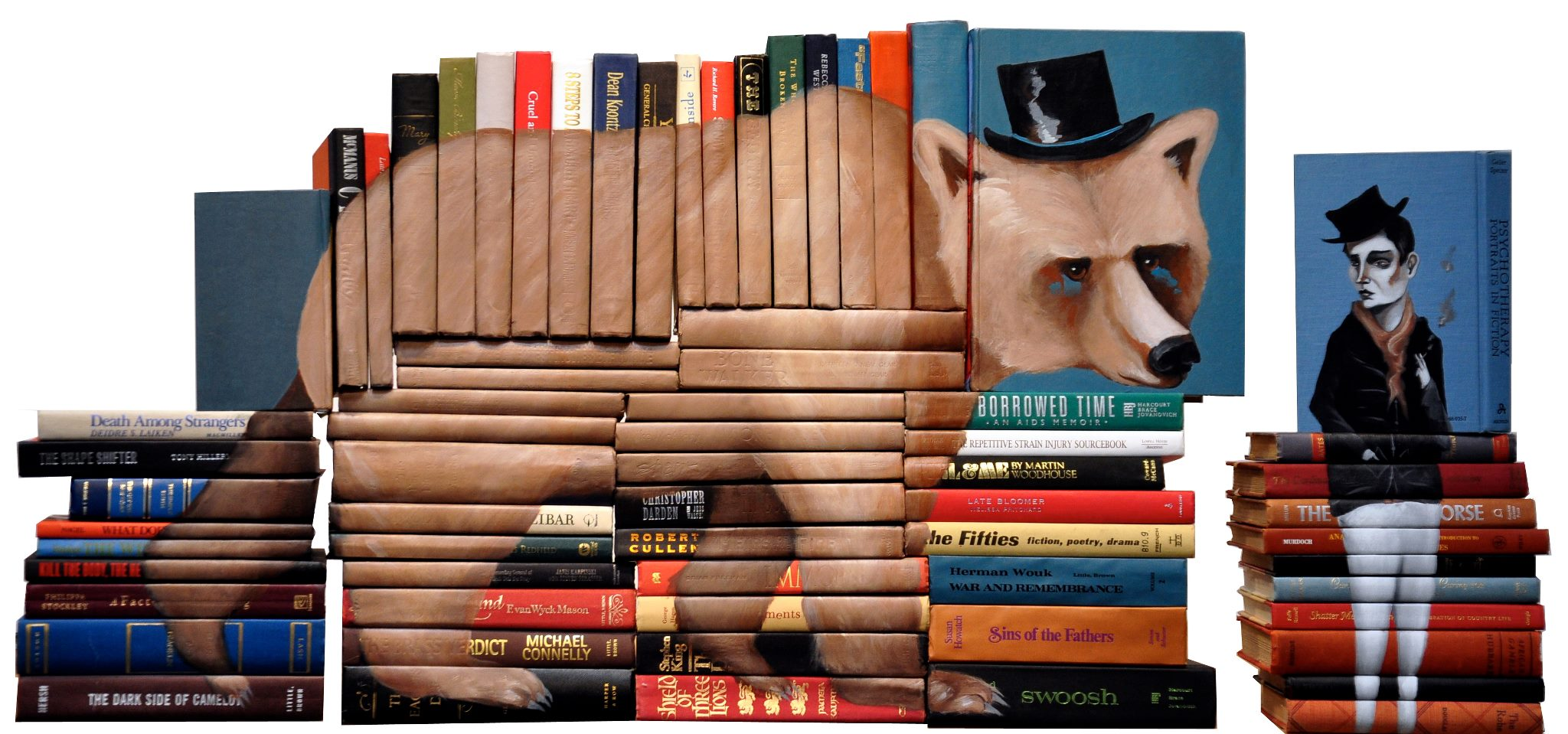 Mike Stilkey's Painted Books