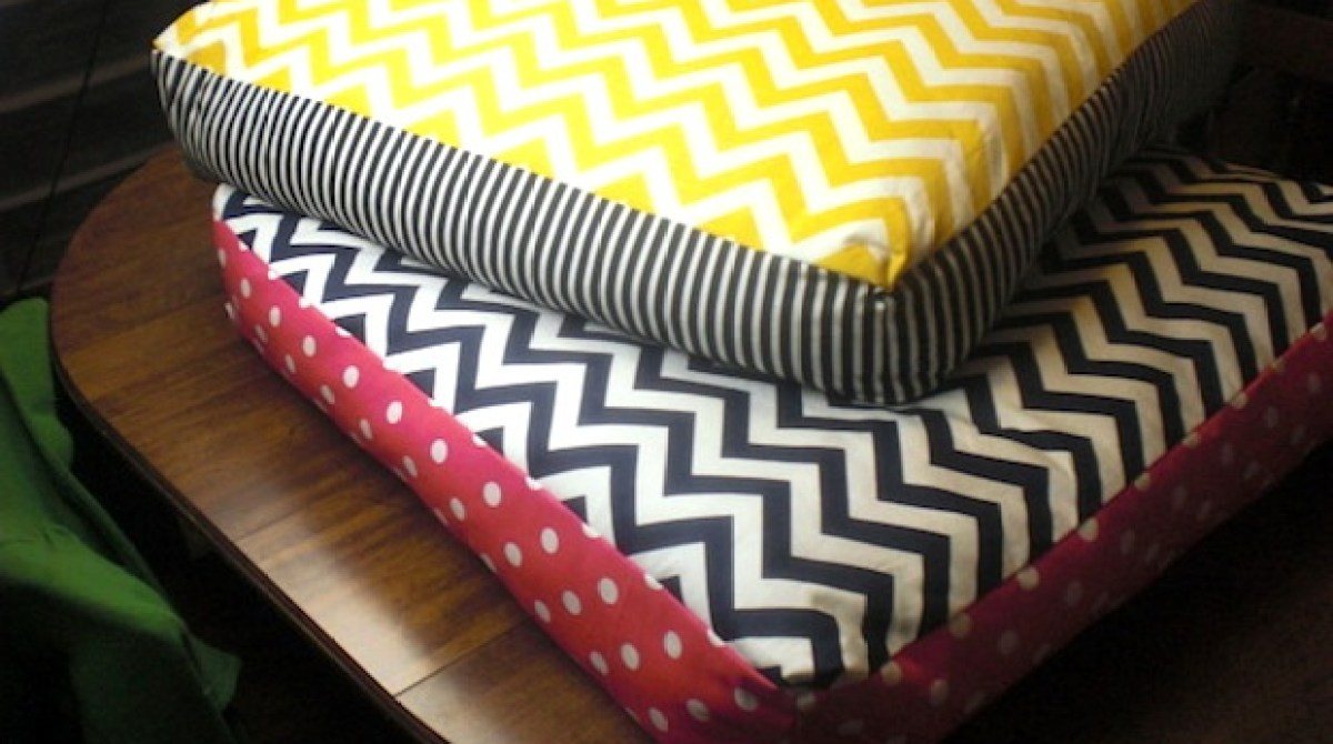 How-To: Giant Chevron Floor Pillows
