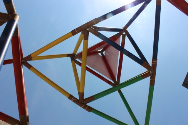 Building an Instant Giant Tetrahedron