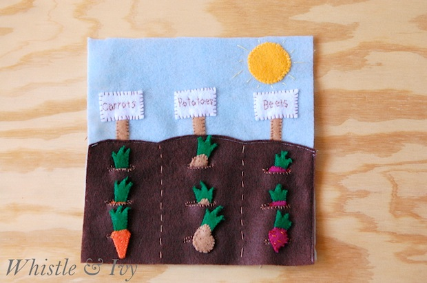 How-To: Vegetable Garden Quiet Book Page