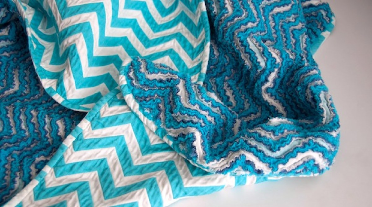 How-To: Chevron Chenille Baby Blanket