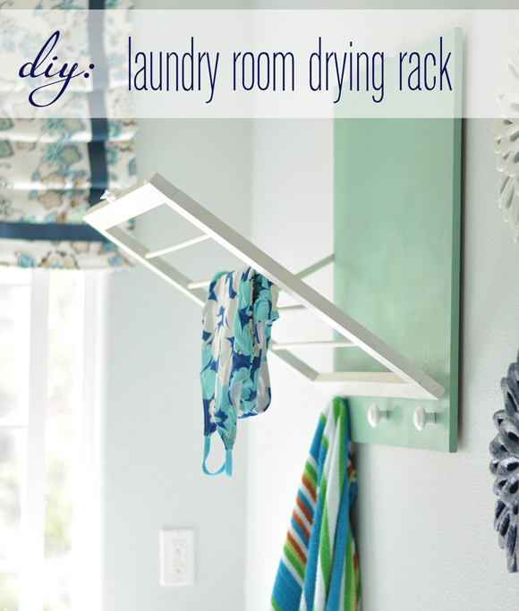 How-To: Fold-Out Laundry Room Drying Rack