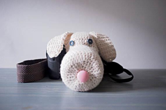 Crocheted Dog Camera Cozy