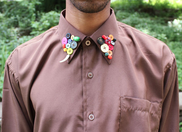 How-To: Button-Embellished Collar