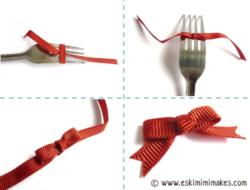 How-To: Mini Fork Bows