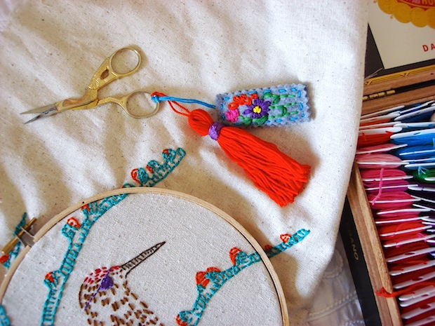 How-To: Embroidery Scissors Tassel and Charm