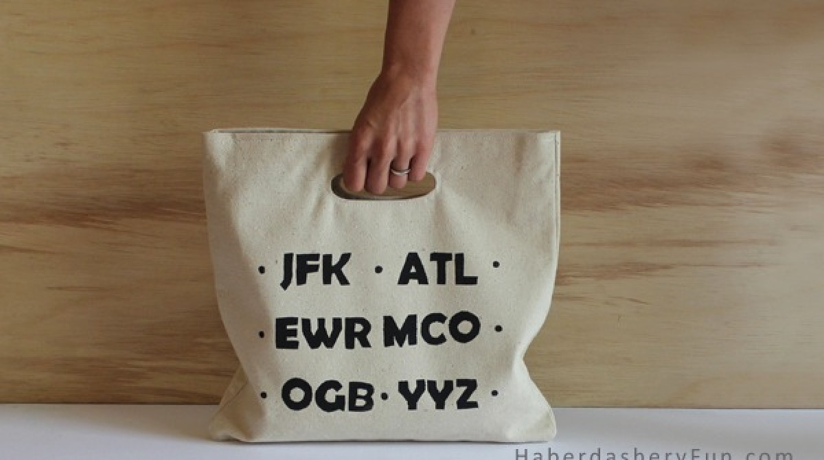 How-To: Airport Code Tote Bag