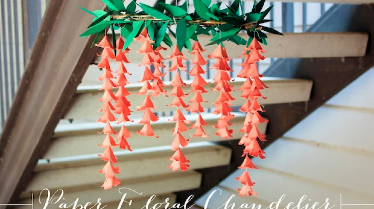 How-To: Paper Flower Chandelier