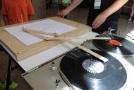"""Robert Howsare """"Drawing Apparatus"""" uses phonographs to create ..."""