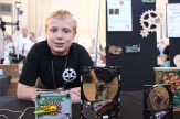 Ted Brull makes clocks from reclaimed computer parts.