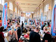 Built in 1914, Union Station served a peak annual passenger traffic of over 670,000 in 1945—and now in 2013 serves a peak Maker Faire traffic of near 12,000!