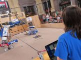 This FIRST team from Shawnee programmed their robot to complete the climb challenge sequence autonomously.