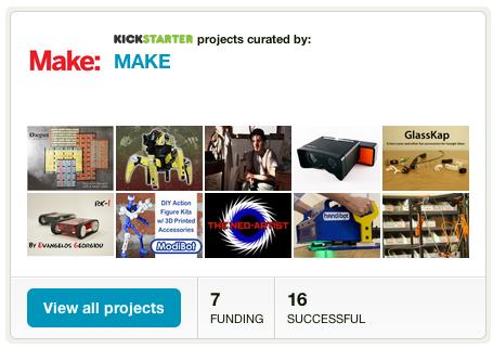 MAKE's Curated Kickstarter Page