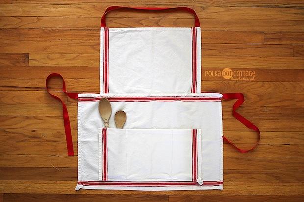 How-To: Tea Towel Apron