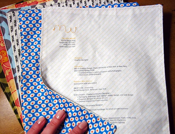 How-To: Sewn Fabric Resume
