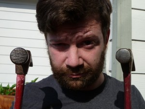 """Textured hammer heads are great because they """"bite"""" the nail better, but will also mar your material once you drive it home. Pick the one that suits the job."""