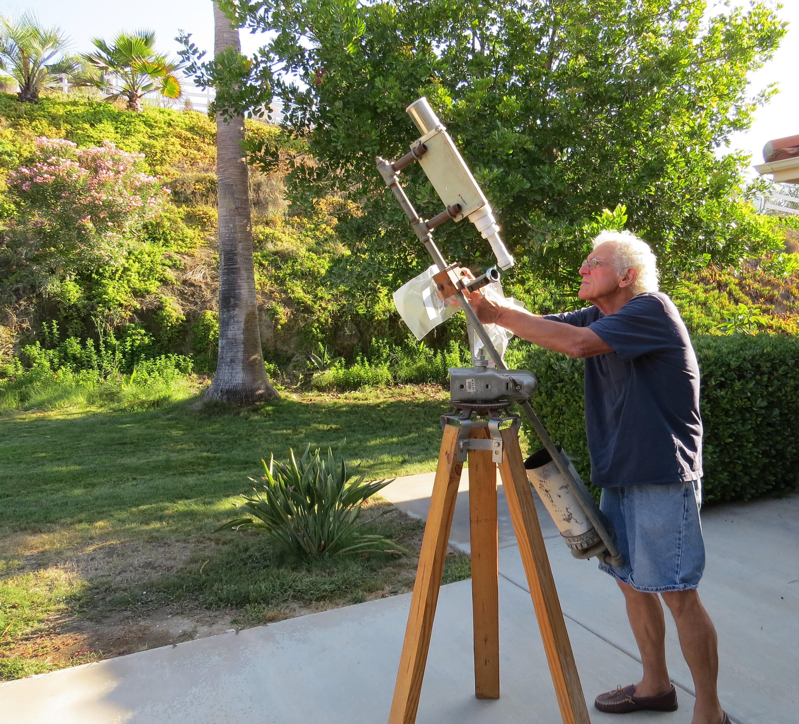 Through a DIY Telescope, Brightly