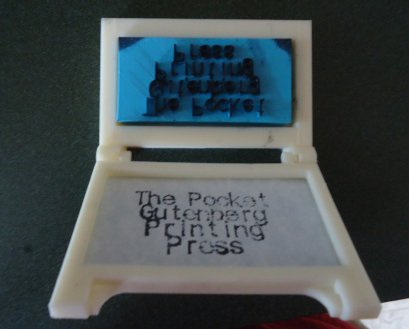 Pocket Gutenberg, a 3D-Printed Press