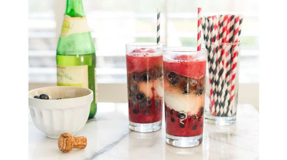 Red, White, and Blue Sorbet Floats