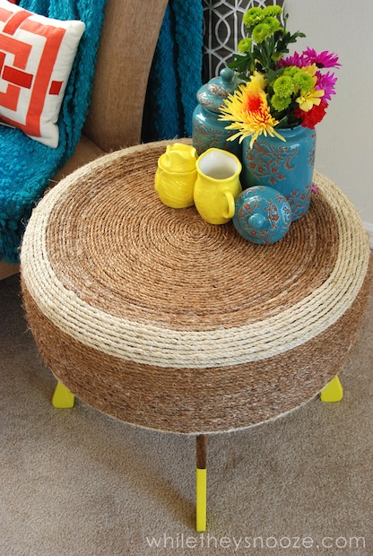 How-To: Upcycled Tire Table