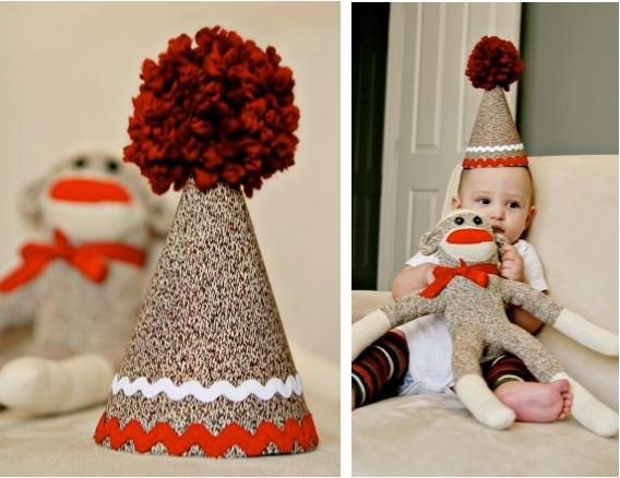 Flashback: Sock Monkey Birthday Hat