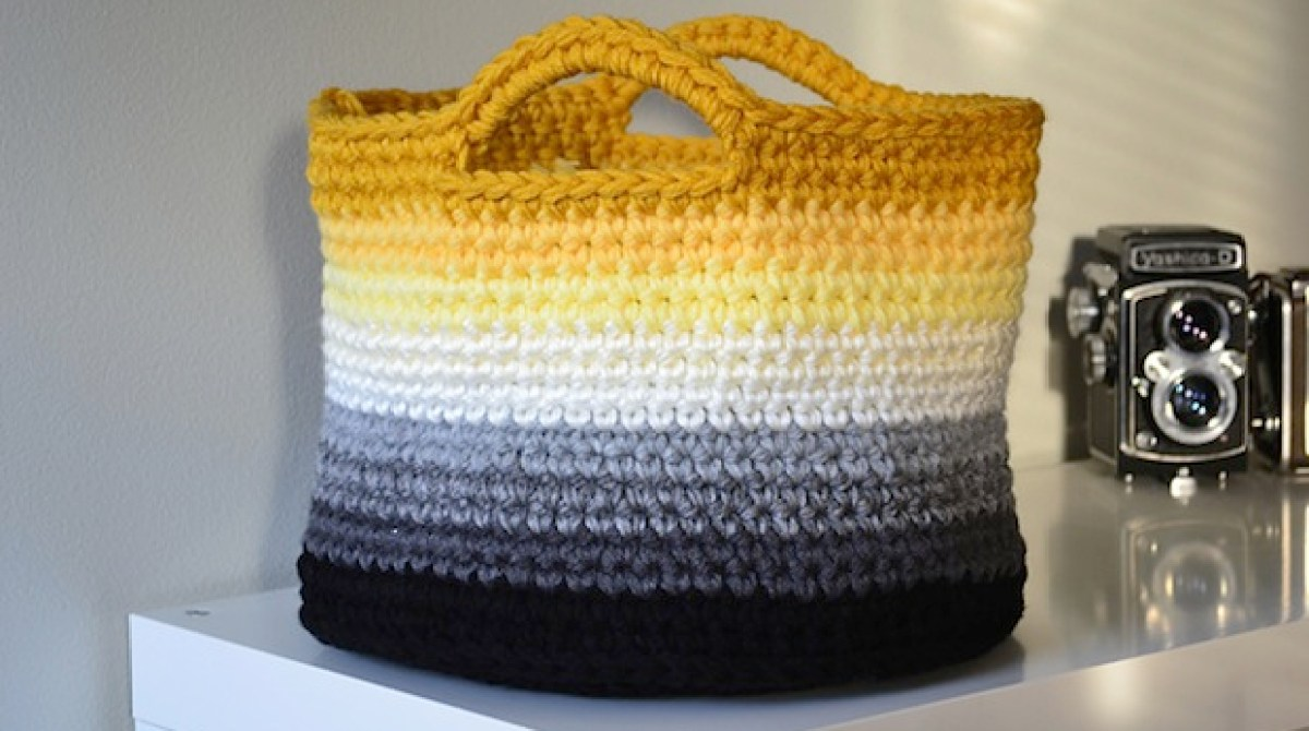 How-To: Ombre Crocheted Storage Baskets