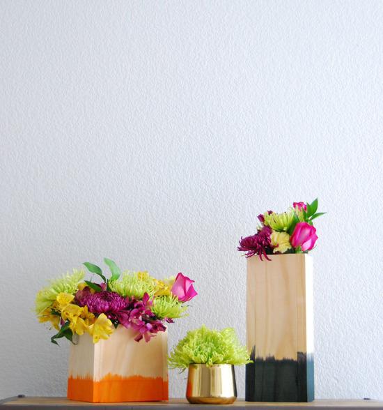 Dip Dyed Vase