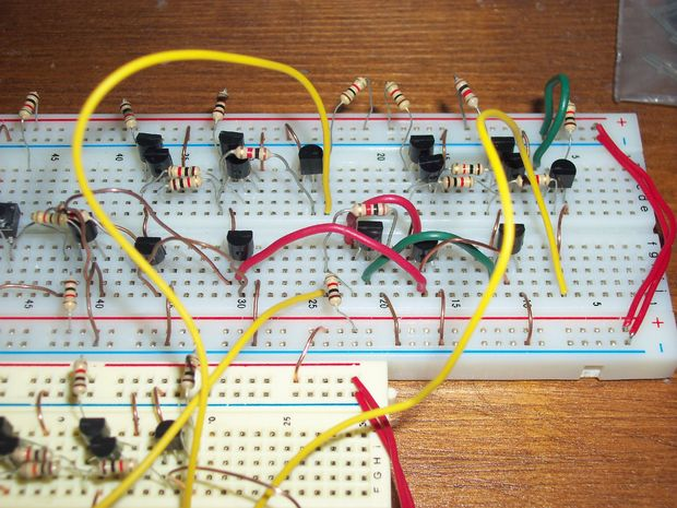 Building Memory Registers With Transistors