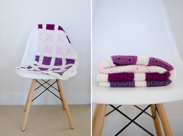 How-To: Modern Colorblock Granny Square Baby Blanket