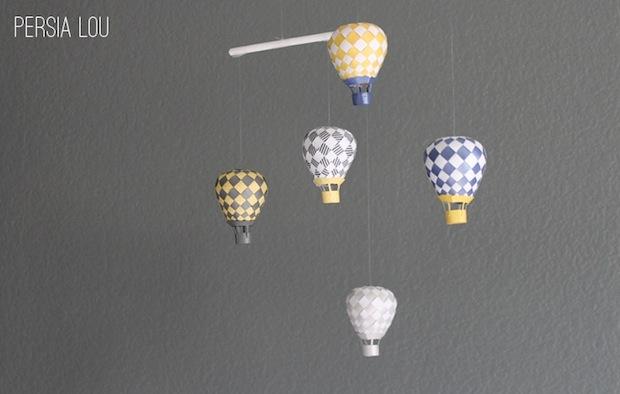 Inspiration: Hot Air Balloon Mobile