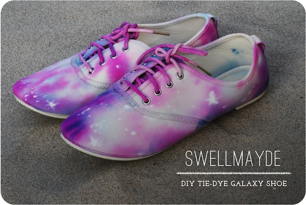How-To: Tie-Dye Galaxy Shoe