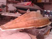 All the fiberglass has been applied and the top mold is done.