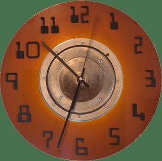 A 14-Inch Hard Drive Clock