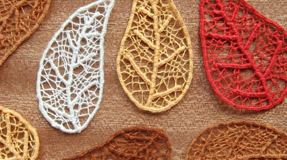 How-To: Needle Lace Skeleton Leaves