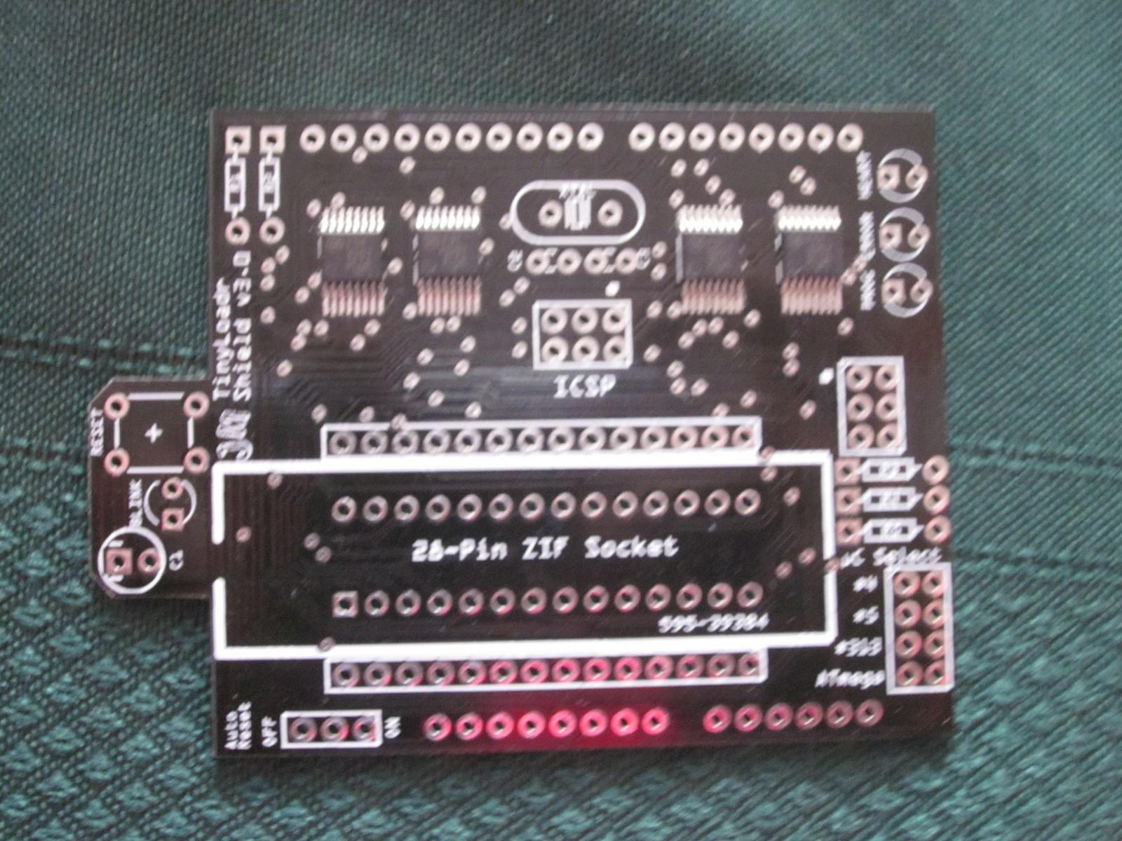 The TinyLoadr Shield Programs AVRs From Your Arduino