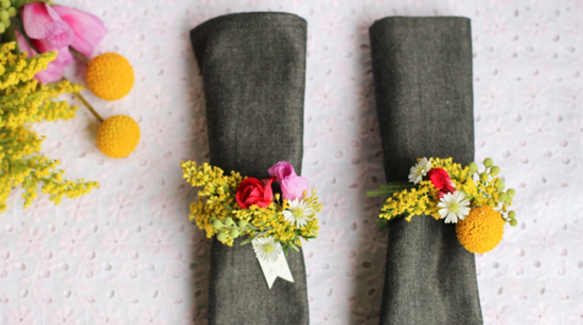 How to fresh flower napkin ring make article featured image mightylinksfo