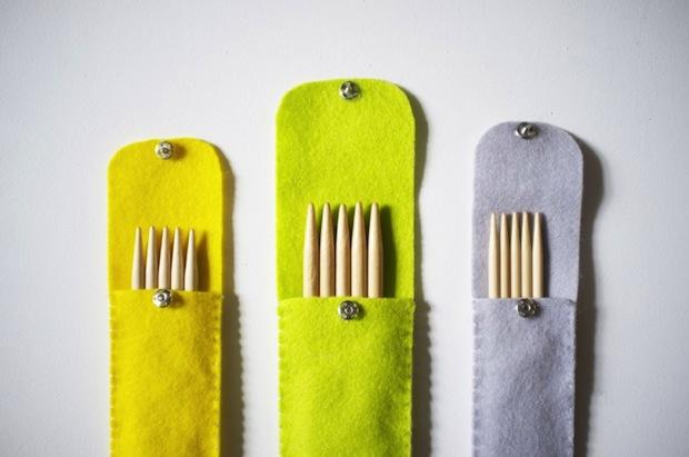 How-To: Felt Knitting Needle Case