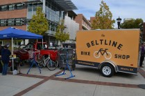 The Beltline Bike Shop serves as an open work space where kids learn how to repair and rebuild bicycles.