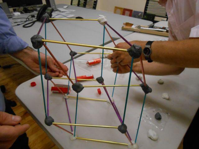 Creating a Knitting Needle Hypercube Shadow