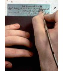 Writing with stop-out varnish ink