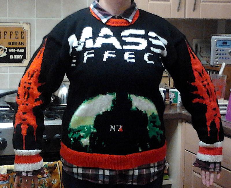 Hand-Knit Mass Effect Sweater