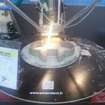 PowerWASP 3D prints in clay.